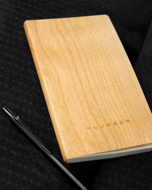 天然木の表紙がおしゃれなノートブック・メモ帳「NOTEBOOK MINI」