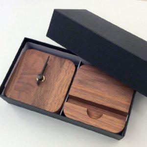 置時計&スマートフォンスタンドセット