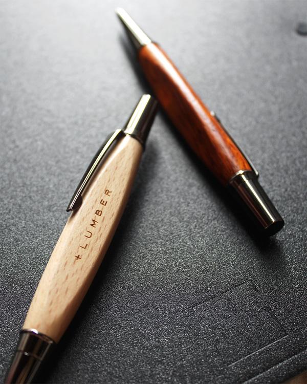 銘木をプラスした木製ボールペン