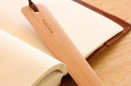 豊かな木の表情を楽しむ木製のしおり・ブックマーク「Bookmark」