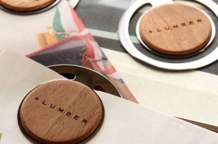 銘木で書類整理、木製ペーパークリップ