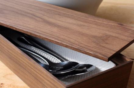 洒落た無垢の箱・カトラリーボックス・ケース「CutleryBox」