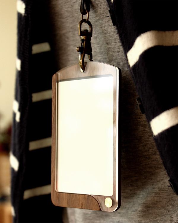 おしゃれな木製カードケース・カードホルダー「ID-CardCase(縦型)」
