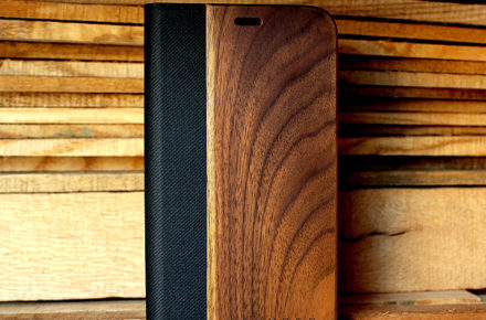 手帳型の木製アイフォンケース、iPhone専用フリップケース