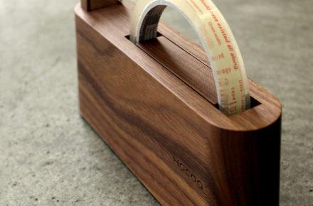スリムでおしゃれな木製テープカッター「Tape Dispenser」