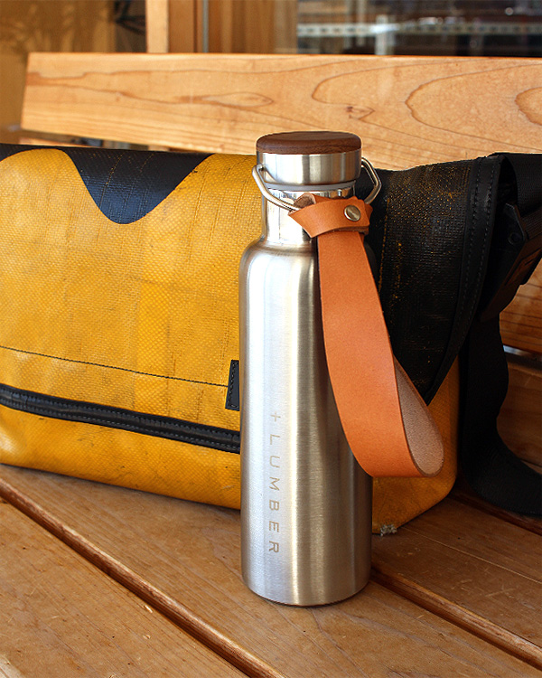 ステンレス素材に銘木をプラスした木製水筒・サーモボトル・タンブラー