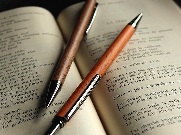 世界に一つだけの木製ボールペン「SLIM BALLPOINT PEN KNOCK」