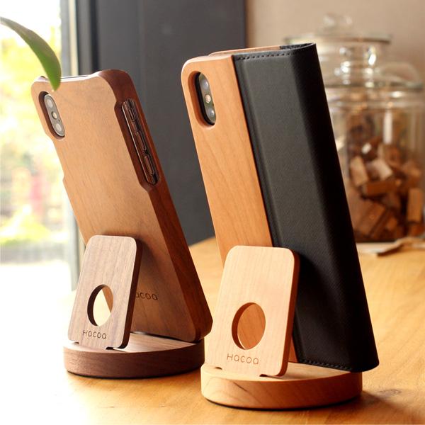 木製スマートフォンスタンド